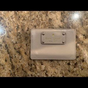 Kate Spade Beige Card Holder/Wallet.